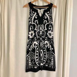 White House Black Market Small Black & White Dress